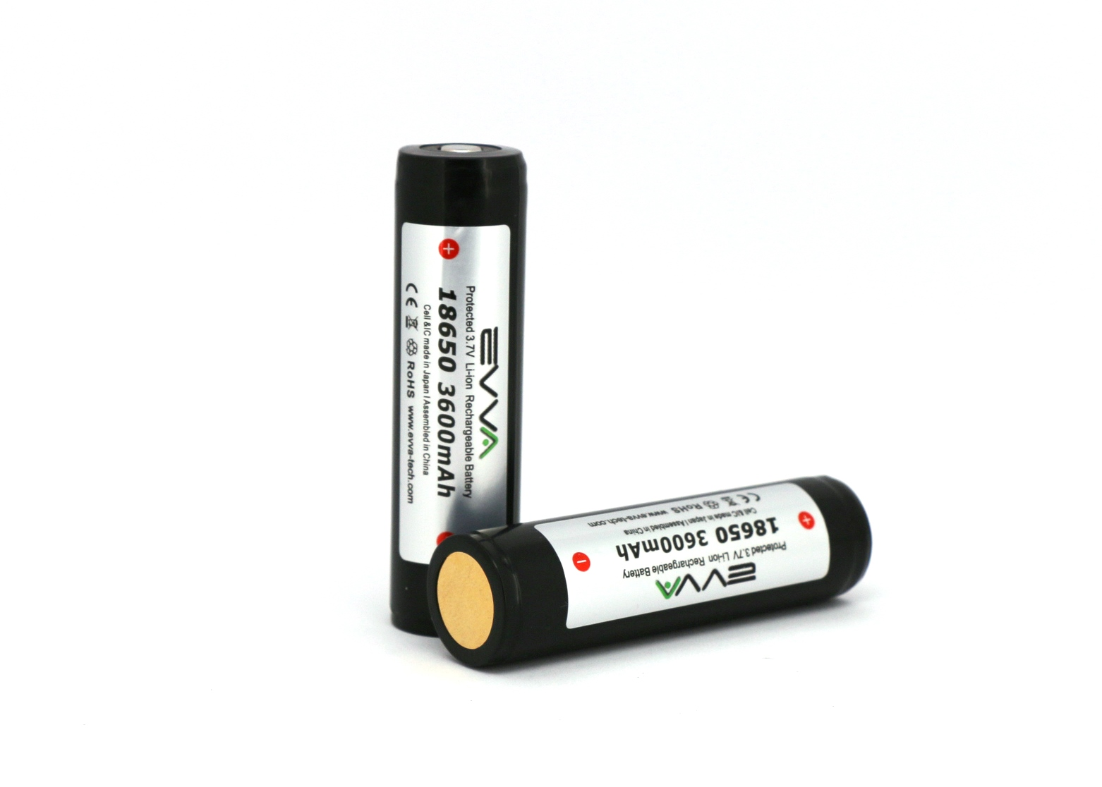 EVVA Protected 18650 3.7V 3600mAh Li-ion Rechargeable Battery
