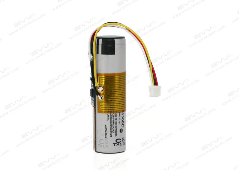 3.7V 3200mAh 18650 Li-ion Battery with Heat