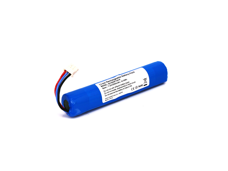 18500 2S1P 7.4V Li-ion Rechargeable Battery with PCB 2000mAh