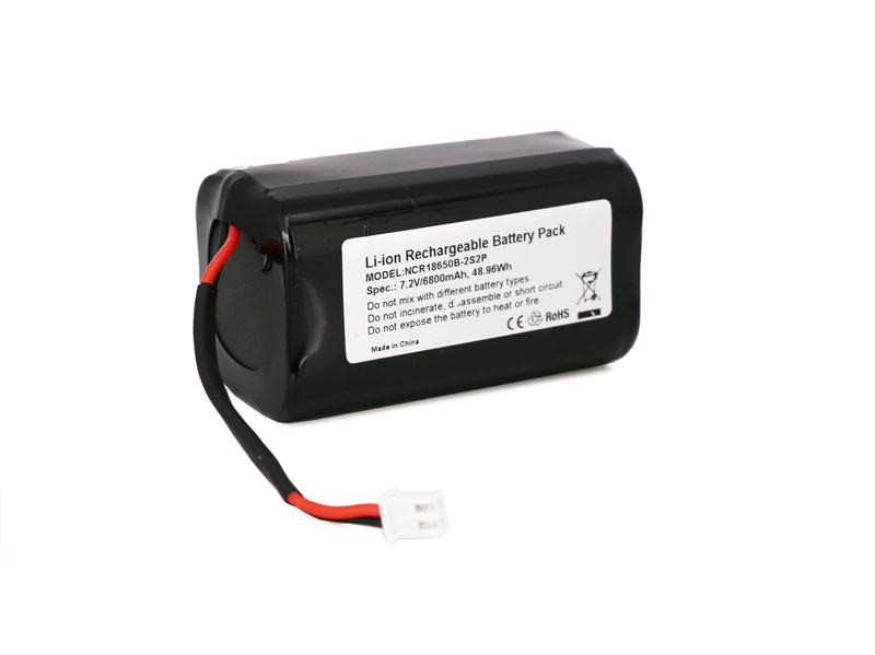 2S2P 18650 7.2V Li-ion Battery Pack with Co