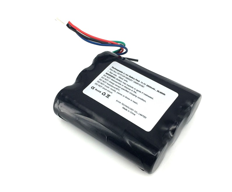 3S1P 11.1V Li-ion Battery Pack 10.8V 3S 186