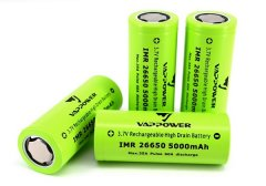 Vappower IMR26650 5000mAh 35A High Drain Battery