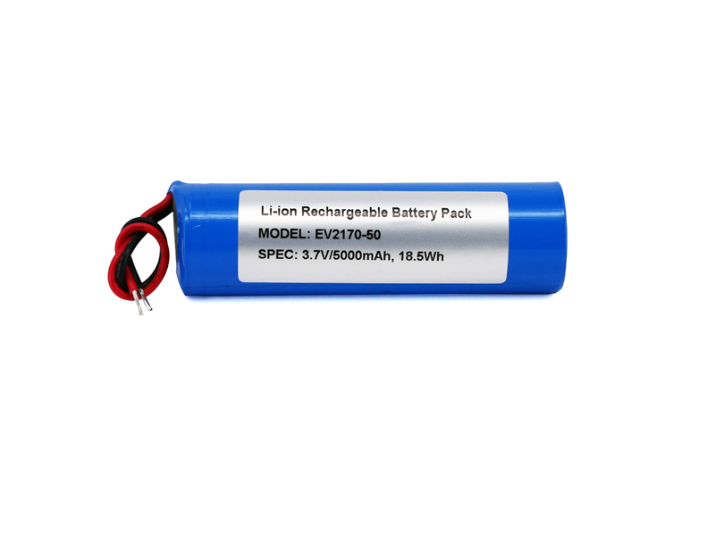 1S1P 21700 Li-ion Battery Wires Out 3.7V 5000mAh
