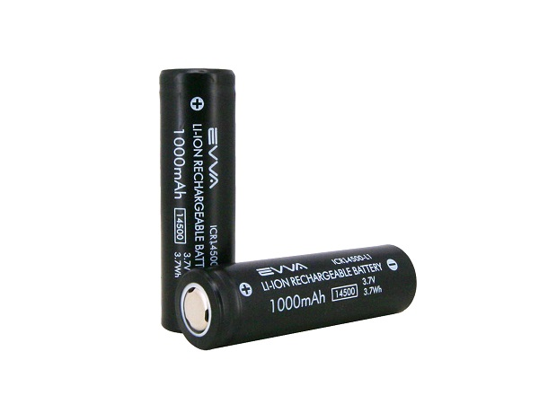 14500 3.7V 1000mAh AA Lithium Rechargeable Battery Unprotected
